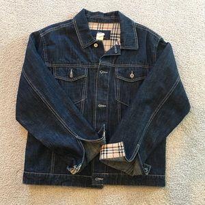 Girls Burberry jean jacket.